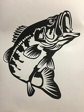 Bass Fishing Decal Sticker Vinyl Logo Lund Fishing Rod Bass Outdoor Sports Car