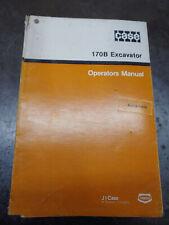 CASE 170B EXCAVATOR OPERATORS MANUAL Burl 9-11310