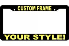CUSTOM PERSONALIZED YELLOW LETTERS customized vanity License Plate Frame USA