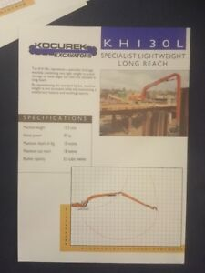 Kocurek KH130L Excavator Leaflet