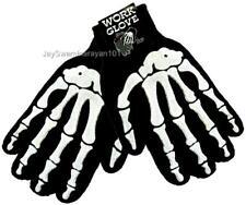 Men's Gloves White Skeleton Bone Gothic Winter Work Biker