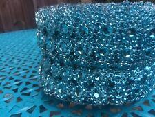 Turquise Rhinestone Diamond Bling Wrap Ribbon for Wedding Party craft Sale