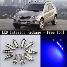 NEW Blue Light Interior LED Package For Mercedes Benz W164 ML350 2011 + TOOL Y2