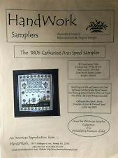 Handwork Samplers- The 1805 Catharine Ann Speel Sampler Chart- OOP
