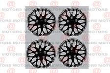 """New Black Chrome Wheel Covers Full Set Of 4 Rim 13"""" Retention Ring Installation"""