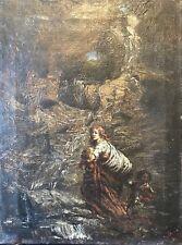 Romantisme Allemagne ou Autriche HST signée Daniel 1854 dans goût Gustave Doré