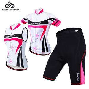 Ladies Cycling Kit Long Sleeve Jersey Bike Shorts Padded Pants Cycle Top Women