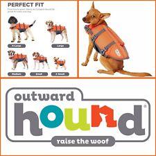 OUTWARD HOUND Raise The Woof Dog Life Jacket Orange SM