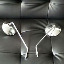 8mm Chrome Mirror Motorcycle Scooter Rear Views Custom