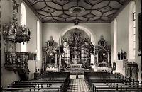 Triberg im Schwarzwald s/w AK ~1950/60 Inneres der Wallfahrtskirche ungelaufen
