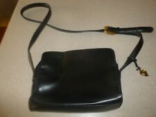 Dana Buchman Black Leather Bag Handbag Purse Hobo Satchel Shoulder Small