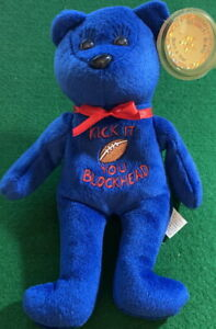 "CELEBRITY BEARS 2000 Star #71 PEANUTS Lucy ""Kick It You Blockhead"" Toy 9"" Plush"