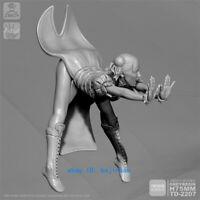 1/24 75mm Beauty Chun-Li Figure Unpainted Resin Model Kits Unassembled