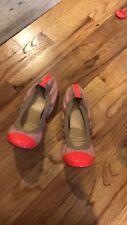 J. Crew Ballet Flat Shoes Mila Cap Toe size 9 Pink Peach Coral