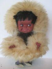 Vintage Eskimo Doll w Real Sealskin Loup Marin by Creations du Vagabond Canada