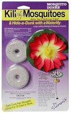SUMMIT POND MOSQUITO DUNKS 2 PACK KILL LARVAE W/ WATER LILY. IMPERFECT PACKAGING