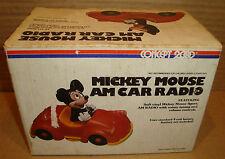 MICKEY MOUSE VINTAGE AM CAR RADIO - CONCEPT 2000 WALT DISNEY