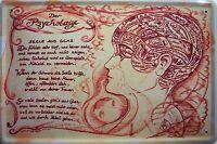 Beruf Psychologe Blechschild Schild Blech Metall Metal Tin Sign 20 x 30 cm
