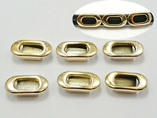 50 Gold Tone Acrylic Oval Belt Slider Beads Charm 20X10mm Fit 8mm Wristband​s
