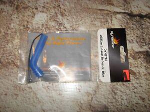 RC Medium Exhaust Deflector Rubber Blue By Dynamite (1) DYN8760 8760