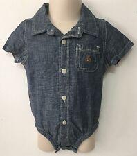 Baby Gap Baby Boy's Chambray Denim Bodysuit Shirt Size 6-12 months NWT