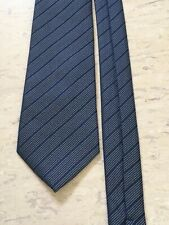 """George blue mix striped smart polyester tie smart 3 1/4"""" wide 59"""" long"""