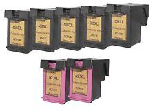 Printenviro HP 60XL 5 Black CC641W & 2 Color CC644W  Reman Ink Cartridges D2560