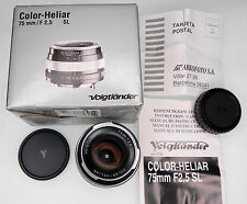Voigtlander 75mm f2.5 SL Color-Heliar Minolta MD mount   #9032283