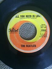 THE BEATLES Baby Rich Man / All You Need is Love US Capitol 5964 45RPM - Tested