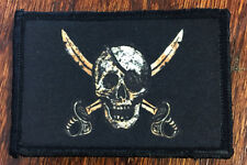 CALICO JACK Morale Patch Military Tactical Army Flag USA Hook Badge Pirate