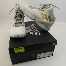 finest selection 40c19 a225f adidas Mad Bounce 2018 Basketball Shoes Mens Size 10.5 White W Gold  Stripes