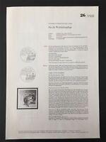 BRD + BERLIN MINISTERIUM ANKÜNDIGUNGSBLATT 1988/26 WOFA GOLDSCHMIEDEKUNST z2996
