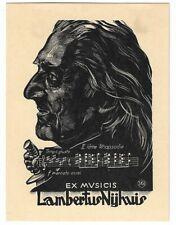 """ARPAD NAGY: Exlibris für Lambertus Nyhuis, """"Franz Liszt"""""""