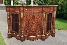 FABULOUS Rosewood Victorian style marquetry Credenza