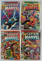 CAPTAIN MARVEL (4-Book) Comic LOT w #47, 49, 55, 58 (1976-1979 | Marvel) Bronze