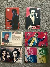 6  x  RARE ELVIS PRESLEY UNUSED PHONECARDS FROM USA  - GREAT CONDITION