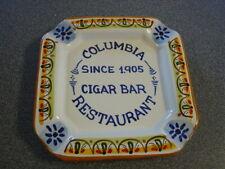 "Ceramic Stoneware Columbia Restaurant  Cigar Bar Ashtray Florida Spain 8""x 8"""