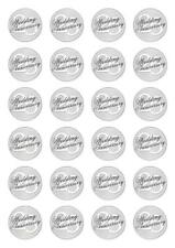 24 25th Wedding Anniversary  Cupcake Fairy Cake Toppers Edible Wafer Paper