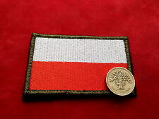 Big Polish ARMY FLAG - stripe on shoulder - white-red Poland patch worn 85x50mm