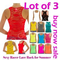 New 3 of Fashion Sexy Racer Lace Back Stretch Women Tank Top Floral Shirt ,Cami