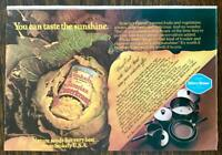 1979 Stokely Bavarian Sauerkraut Print Ad You Can Taste the Sunshine