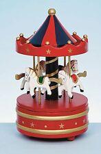 Madera Navidad Carousel Caja De Música Feliz Va Redondo Regalo Casa Decoración