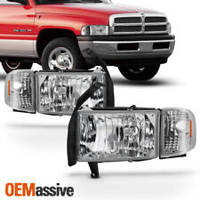 1994-2001 Dodge Ram 1500 2500 3500 Pickup Clear Headlights Corner Signal Lamps