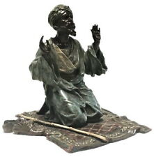 Franz Xavier Bergmann, Praying Man, Vienna Bronze Desk Sculpture, circa 1900