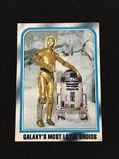 "STAR WARS R2-D2- & C3PO ""GALAXYS MOST LOYAL DROIDS"" 1980 ESB VINTAGE CARD"