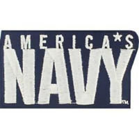 """US NAVY  """"AMERICA'S NAVY """"   PATCH  Iron / Sew-on Patch  3.5 inch patch"""