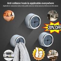 1/2/4 Push In Tea Towel Holder Grip Hook CHROME Self Adhesive Kitchen Cloth Clip