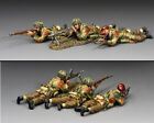 """KING AND COUNTRY """"The Bren Gun Section"""" (set of 3) WW2 MG80 MG080"""