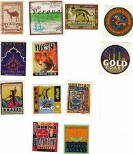 12 Different Rare Retired Starbucks Stickers / Stamps