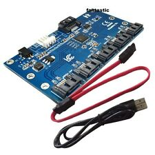 SATA 1 To 5 Port converter Adatper SATA Multiplier Port Card SATAII Riser card